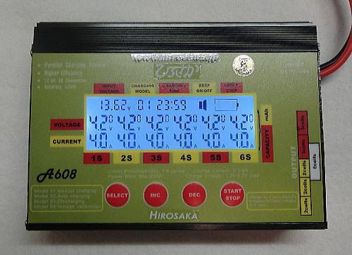 画像1: A608 リポ・リフェ用 単セル充電器