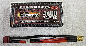 画像1: 4400mAh 70C ショートタイプ HE4400-70C-7.4V-D4 BOX